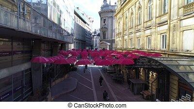 Art installation in city center