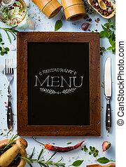 Art italian home cooking background; restaurant week - menu ...