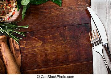 Art italian homemade food background