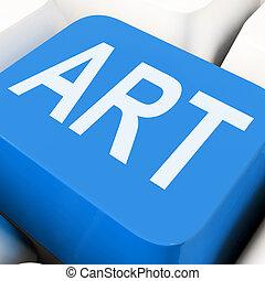 Art Key Means Artistic Or Artwork