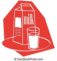 art, lait, agrafe