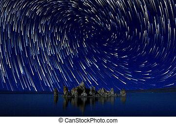 Art Landscape Image of the Tufas of Mono Lake