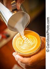 art, latte