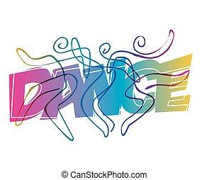 art., ligne, trois, danseurs