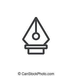 Art line icon Pen tool