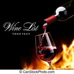 art, liste, vin