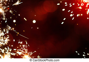Art magic Christmas firework light  background