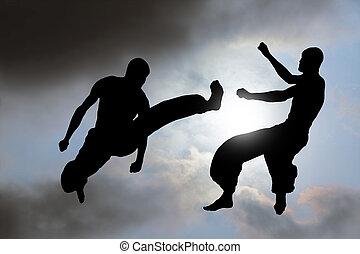 art martial, combat, fond