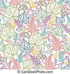 art, modèle, feuilles, seamless, fond, ligne