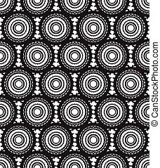 art, modèle, seamless, vecteur, arrière-plan noir, optique, blanc
