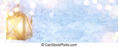art, noël, fetes, lumière, sur, neige, fond