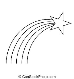 art, noir, étoile, ligne, tir, blanc
