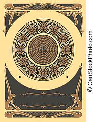 Art Nouveau Backgrounds and Frame