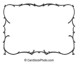 art nouveau black ornamental decorative frame - Vector art ...