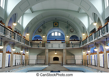 Art nouveau - Former art nouveau public swimming pool
