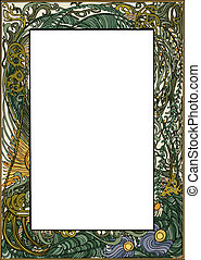 Art Nouveau Frame - Vector art in Illustrator 8. Hand drawn ...