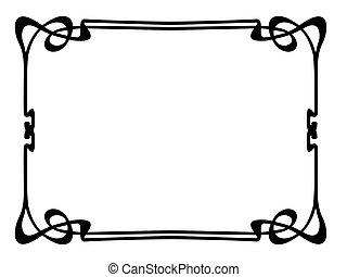 art nouveau ornamental decorative frame - Vector art nouveau...