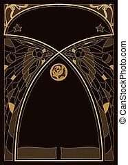 Art Nouveau Style Background