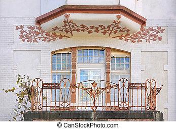 Art Nouveau style house in residential area in Wiesbaden,...