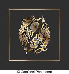 Art Nouveau style vector illustration element