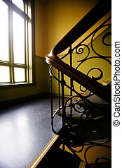 Art Nouveaux Staircase - A staircase with a art nouveaux...