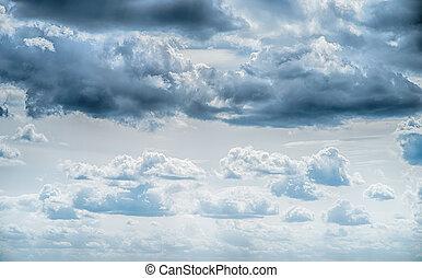 art, nuages, levers de soleil, fond, ciel