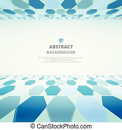 Art of blue molecules abstract background for business presentation.
