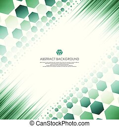 Art of green molecules abstract background. Soft gradient of technology line disign.