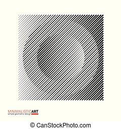 Art of modern minimalistic design. Halftone geometric...