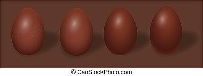 Set of Brown Eggs