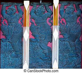 Art of Thai Temple Window