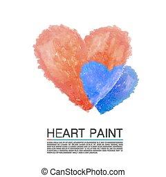 Art paint heart