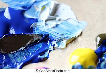 art, palette, couteau à peindre