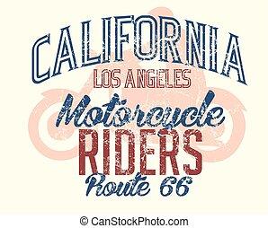 art, parcours, vecteur, californie, retro, 66