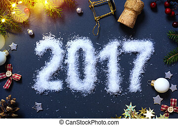 art, patry, années, eve;, fond, nouveau, 2017, heureux