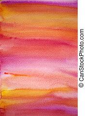 art, peint, multicolore, aquarelle, fond, main