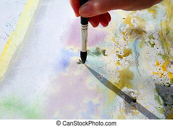 art, peinture, aquarelles