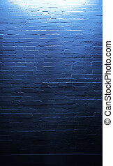 Art photo of blue wall