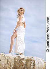 Art photo of the shapely blonde