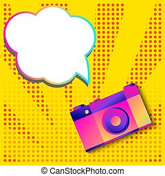 art, photo, pop, appareil photo, retro, bannière