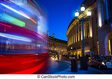 art Piccadilly Circus in London by night