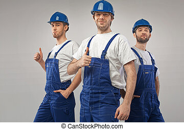 Art portrait of the three employees