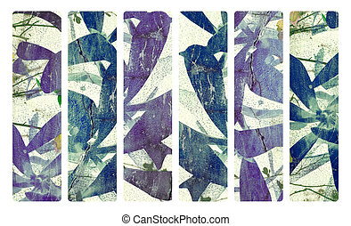 Art print on plaster and coconut paper banner