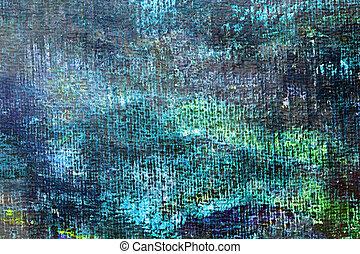 art, résumé, arrière-plan vert, peint, à, acrylique, colors.