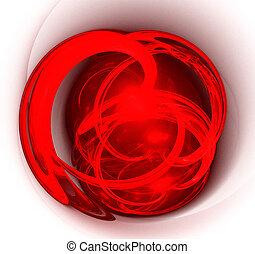 art, résumé, heart., rouges