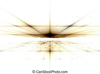 art, résumé, numérique, fractal, bleu