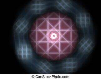 art, résumé, spirale, arrière-plan noir, numérique, fractal