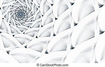 art, résumé, spirale, fond, numérique, fractal