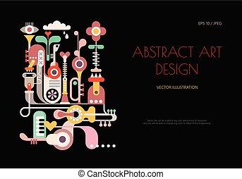 art, résumé, vecteur, conception, illustration