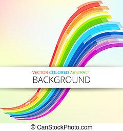 Art rainbow abstract vector background